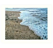 Seashore Foam Art Print