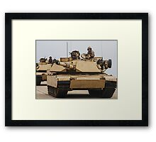 TANK PATROL Framed Print