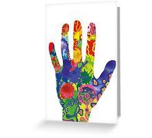 Colorful Rainbow Handprint Greeting Card