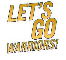 Let's Go Warriors! Photographic Print