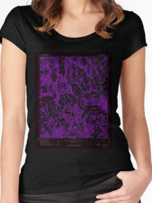USGS TOPO Map Alabama AL Nectar 304658 1961 24000 Inverted Women's Fitted Scoop T-Shirt