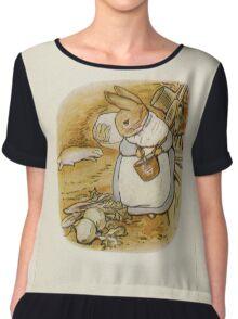 Vintage famous art - Beatrix Potter - Peter Rabbit, 1902 Chiffon Top