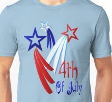 Three Shooting Stars - Happy 4th Unisex T-Shirt
