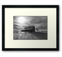 Peace on the Prairies - BW Framed Print