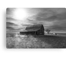 Peace on the Prairies - BW Canvas Print