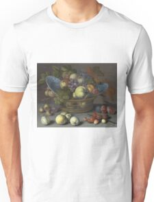 Vintage famous art - Balthasar Van Der Ast  - Basket Of Fruits 1622 Unisex T-Shirt