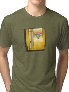 Rare gold nintendo world championships 1990 video game Tri-blend T-Shirt