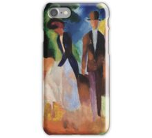 Vintage famous art - August Macke - People By The Blue Lake iPhone Case/Skin