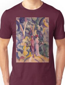 Vintage famous art - August Macke - Couple On The Forest Track Unisex T-Shirt