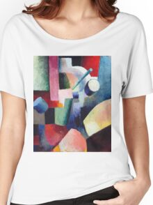 Vintage famous art - August Macke - Colored Composition Of Forms Women's Relaxed Fit T-Shirt