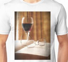 A Book & Glass of Wine Unisex T-Shirt