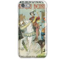 Vintage famous art - Poster - Armagnac Chateau Henry Iv  iPhone Case/Skin