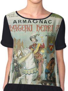 Vintage famous art - Poster - Armagnac Chateau Henry Iv  Chiffon Top