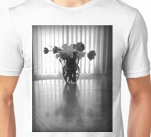 Tulips & Daffodils in Black & White Unisex T-Shirt