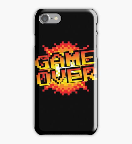 pixel game over  iPhone Case/Skin