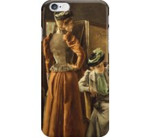 Vintage famous art - Alfred Stevens  - Visit To The Studio 1891 iPhone Case/Skin