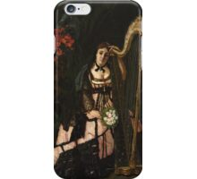 Vintage famous art - Alfred Stevens  - A Musician 1868 iPhone Case/Skin