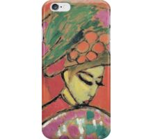 Vintage famous art - Alexei Jawlensky  - Young Girl With A Flowered Hat iPhone Case/Skin