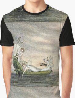 Vintage famous art - Amelia Jane Murray  - Fairies Floating Downstream In A Peapod Graphic T-Shirt