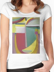 Vintage famous art - Alexei Jawlensky  - Abstract Head Inner Vision Women's Fitted Scoop T-Shirt