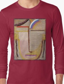 Vintage famous art - Alexei Jawlensky  - Abstract Head Composition No 2  Winter  Long Sleeve T-Shirt