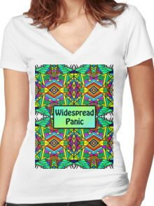 WP - Widespread Panic - Psychedelic Pattern 2 Women's Fitted V-Neck T-Shirt
