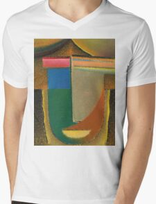 Vintage famous art - Alexei Jawlensky  - Abstract Head Mens V-Neck T-Shirt