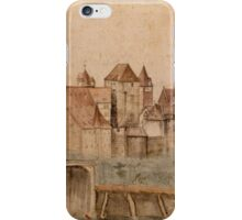 Vintage famous art - Albrecht Durer - View Of Nuremberg Castle From The North 1495 iPhone Case/Skin