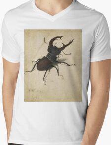 Vintage famous art - Albrecht Durer - Stag Beetle 1505 Mens V-Neck T-Shirt