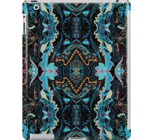 Abstract Marker Pattern - Black & Teal iPad Case/Skin