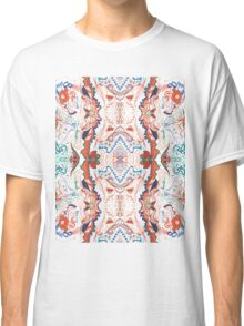 Abstract Marker Pattern - White & Orange Classic T-Shirt