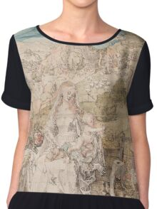 Vintage famous art - Albrecht Durer - Mary Among A Multitude Of Animals,  1503 Chiffon Top