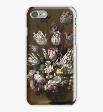 Vintage famous art - Hans Bollongier - Still Life With Flowers iPhone Case/Skin