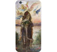 Vintage famous art - Gustave Moreau - The Sacred Elephant 1882 iPhone Case/Skin