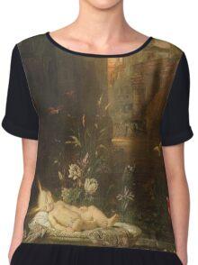 Vintage famous art - Gustave Moreau - The Infant Moses 1876  Chiffon Top