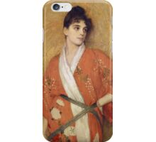 Vintage famous art - Gustave Courtois - Study iPhone Case/Skin