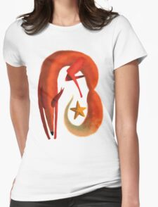 Little Fox and Star Womens Fitted T-Shirt