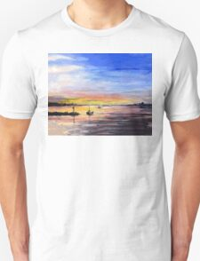 Sunset Watercolor Painting T-Shirt