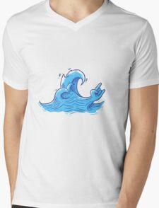 Shred the Gnar Mens V-Neck T-Shirt