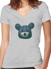 Teddy Bear Women's Fitted V-Neck T-Shirt