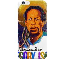 We Remember Gregory Isaac iPhone Case/Skin