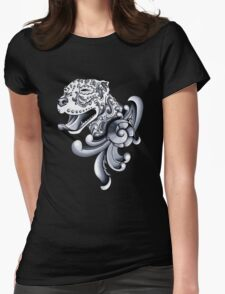 Ornamental Pit Bull Womens Fitted T-Shirt