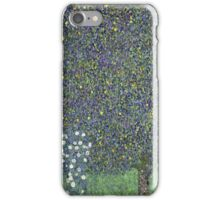 Gustav Klimt - Roses Under The Trees-   Gustav Klimt - Landscape iPhone Case/Skin