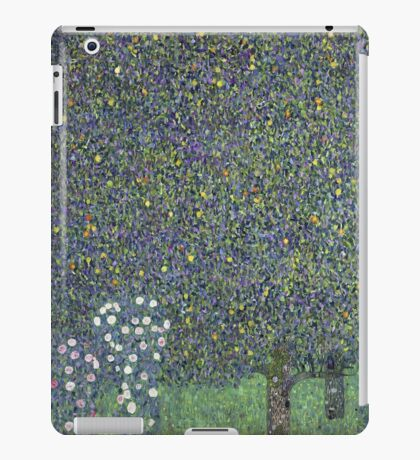 Gustav Klimt - Roses Under The Trees-   Gustav Klimt - Landscape iPad Case/Skin
