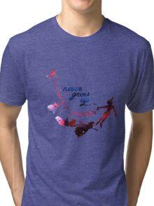 Never Grow Up Nebula Blue Tri-blend T-Shirt