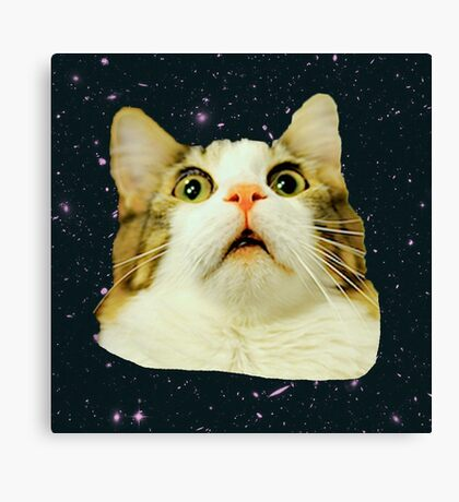 Stunned Space Cat Canvas Print