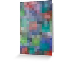 Abstract pixel pattern Greeting Card