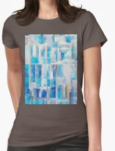 Abstract blue pattern 2 Womens Fitted T-Shirt