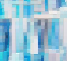Abstract blue pattern 2 Sticker