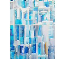 Abstract blue pattern 2 Photographic Print